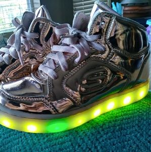 Sketchers high top light up sneakers size 1